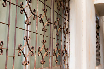Decorative Security Bars On A Window