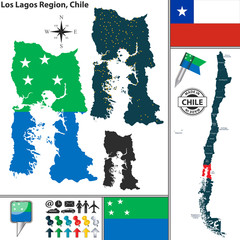 Map of Los Lagos, Chile