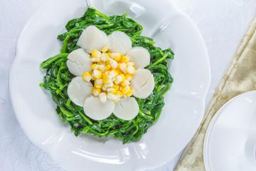 ホタテと野菜の中華料理