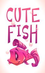 Cute purple fish