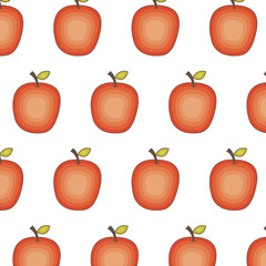 fresh fruit pattern drawing icon vector illustration design