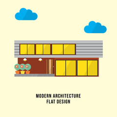 Modern house flat design