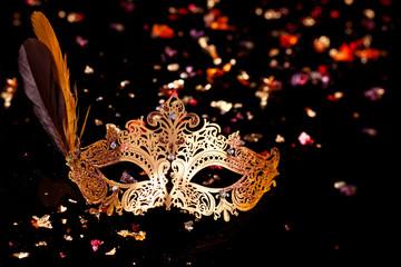 Gold carnival mask.