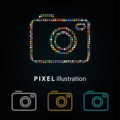 Photo - pixel illustration.
