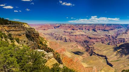 Panoramic view at sunny day. Grand Canyon National Park, Arizona, USA