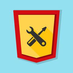 Service Shield sign illustration
