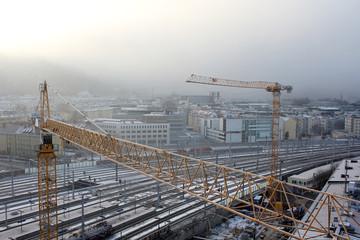 Baukran über Salzburg