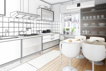 Küchenarrangament (Skizze)