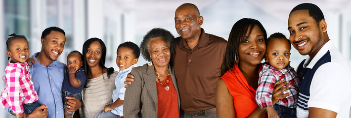 Happy African American Family Papier Peint