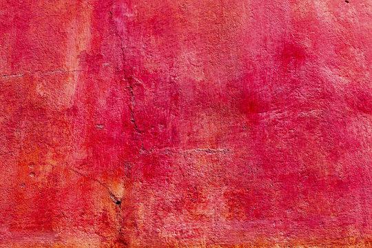 Bright Red Orange Wall San Miguel de Allende Mexico