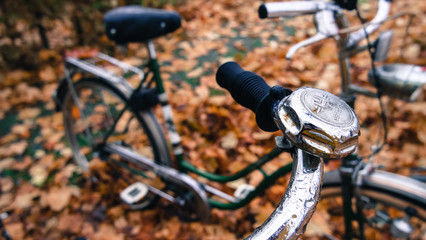 Bycicle bell in autumn