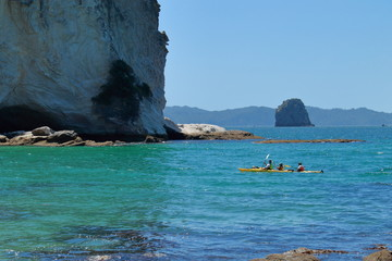 Kayaking in stingray bay, new zealand