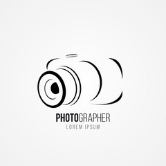 Camera symbol in modern style. Vector