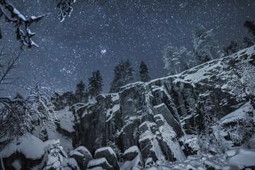 Starry sky, Korouoma nature reserve, Posio, Finland