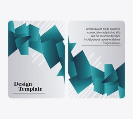 design template blue website decoration layout icon, vector illustration