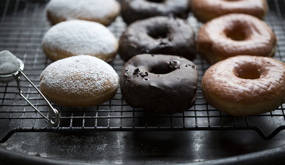 Assorted donuts, close up