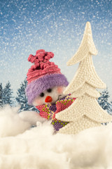 Christmas toy snowman