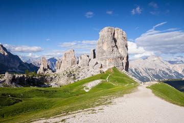 Summer mountain alpine meadow panorama