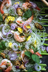 Seafood and vermicelli salad