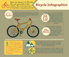 Bike infographic. Vector illustration.