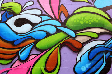 Poster Graffiti Colorful graffiti art