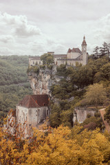 Rocamadour village on a cliff