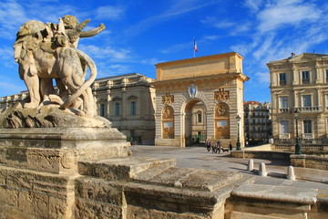 Arc de triomphe de Montpellier, France
