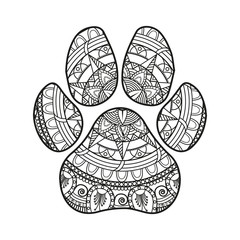 Vector Illustration Of Black And White Mandala Feet For Coloring