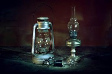 Vintage lighting fixtures.