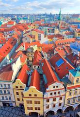 Prague vue de la tour de l'hôtel de ville