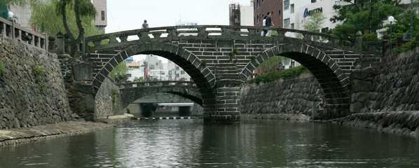 Spectacles Bridge, Nagasaki, Japan, Asia