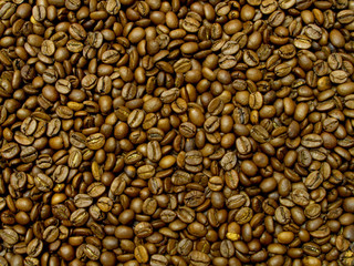 Brown coffee, background texture, close-up. Coffee Bean for background