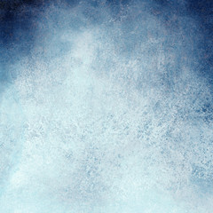 white and blue background design with painted grunge borders in dark cloudy blue sky design on watercolor paper texture
