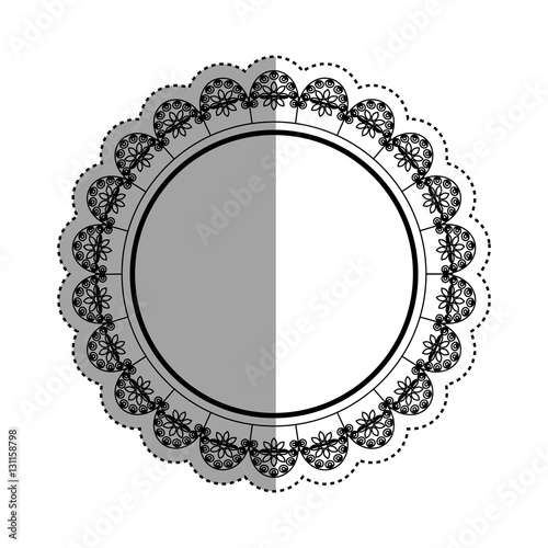 quotdecorative circle emblem icon vector illustration graphic