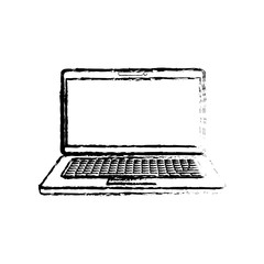 Laptop computer technology icon vector illustration graphic