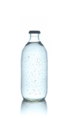 Soda bottle on white background