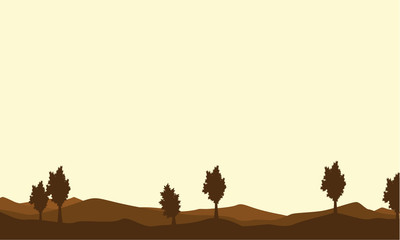 Silhouette of tree on brown backgrounds