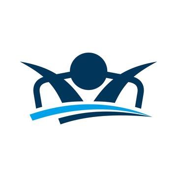 sleep care logo vector. icon template.