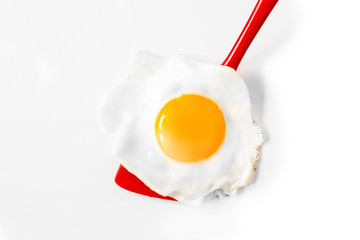 Fond de hotte en verre imprimé Ouf Fried egg on a spatula