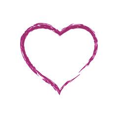 red / pink heart. Valentine. heart icon. grunge texture. vector illustration.