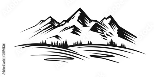 mountain vector black stock image and royalty free vector files on rh fotolia com mountain vector free download mountain vector outline