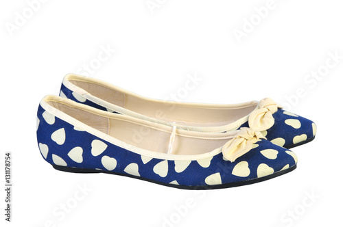 dbba03fbd Pair of elegant flat shoes isolated over white background. Women's Shoes  ballet flats
