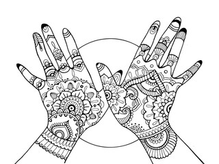 Photos illustrations et vid os de zentangle - Dessin de henne pour les mains ...
