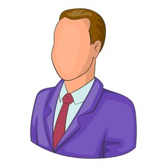 Man in suit avatar icon. Cartoon illustration of avatar vector icon for web design