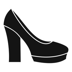 High heel shoes icon. Simple illustration of high heel shoes vector icon for web