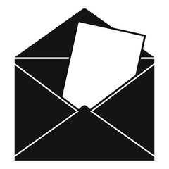 Envelope icon. Simple illustration of envelope vector icon for web