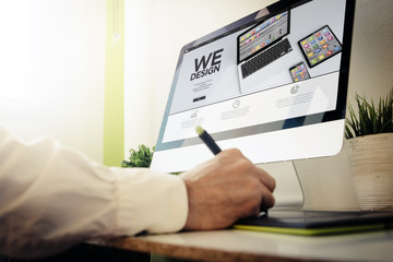 web developer designing wedesign