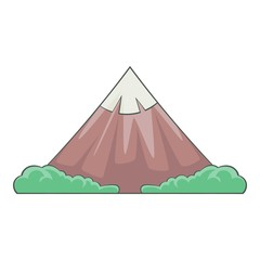 The sacred mountain of Fuji, Japan icon. Cartoon illustration of the sacred mountain of Fuji, Japan vector icon for web