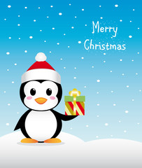 Nice Christmas penguin with gifT