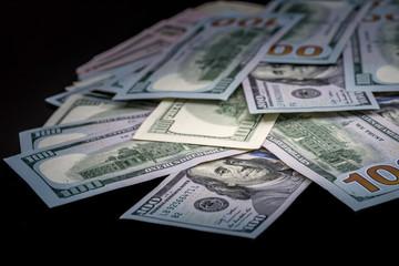 100 us dollar isolated  black